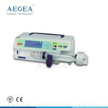 AG-SP001 precio de instrumento médico eléctrico de canal único bien recibido del hospital de la bomba de jeringa