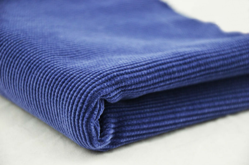 blue corduroy fabric