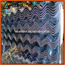 Prix des draps en tôle ondulée gi à chaud, tôle de toiture galvanisée