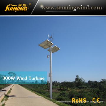 0.3 кВт небольшой генератор энергии ветра ветротурбины на-решетки системы 300W для мониторинга