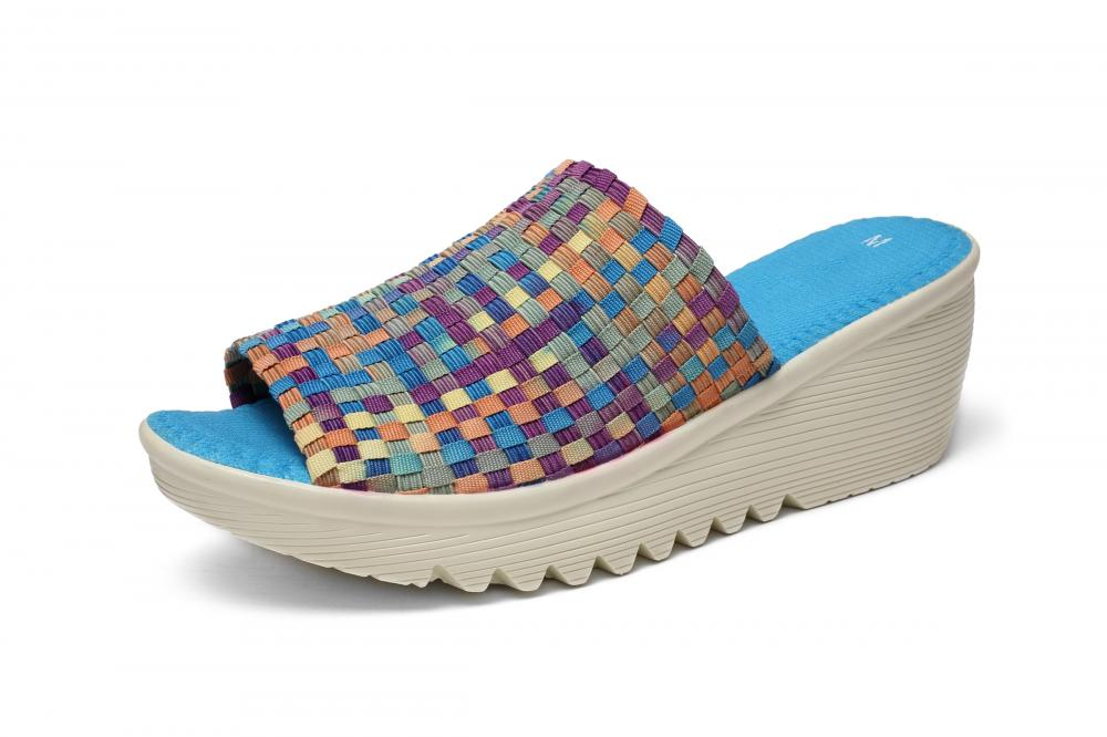 Symphony Blue Woven Slippers