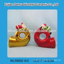 Fabulous design ceramic christmas ornaments for tealight or led