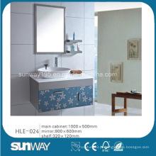 Vaivinha de banheiro Varanda de cerâmica em aço inoxidável Vaidade de banheiro