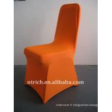 housse de chaise en spandex orange, CTS680, pour toutes les chaises
