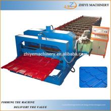 Verglaste Metall Dachziegel Roll Umformmaschine Produktionslinie
