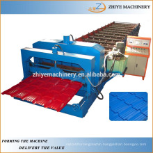 Glazed Metal Roof Tile Roll Forming Machine Production Line