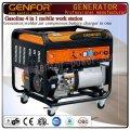 Бензин 4 в 1 Генератор мобильной рабочей станции, Сварщик, Воздушный компрессор и зарядное устройство