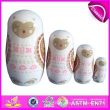 2014 neue Produkte Matryoshka Puppen für Kinder, Qualitätsprodukte Matryoshka für Kinder, handgemachte russische Matryoshka Puppenfabrik W06D035