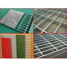 Rejas de acero galvanizado, rejas de barras, rejas de FRP, rejillas compuestas