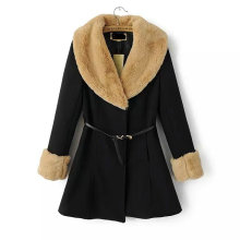 OEM Winter Women Coat Europen Style High Quality Women Fur Coat