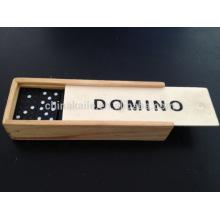 Dominó de impressora jato de tinta com caixa de madeira