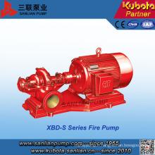 Pompe d'incendie à double étage horizontale simple série Xbd-S