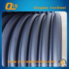 Cinturón de acero reforzado HDPE en espiral Tubo de fuelles