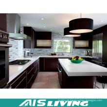 Mobília dobro feito-à-medida e modular dos armários de cozinha da cor (AIS-K914)