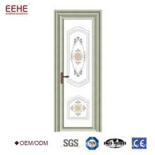Роскошный белый цвет украшен алюминиевой рамой интерьера матового стекла дизайн двери ванной