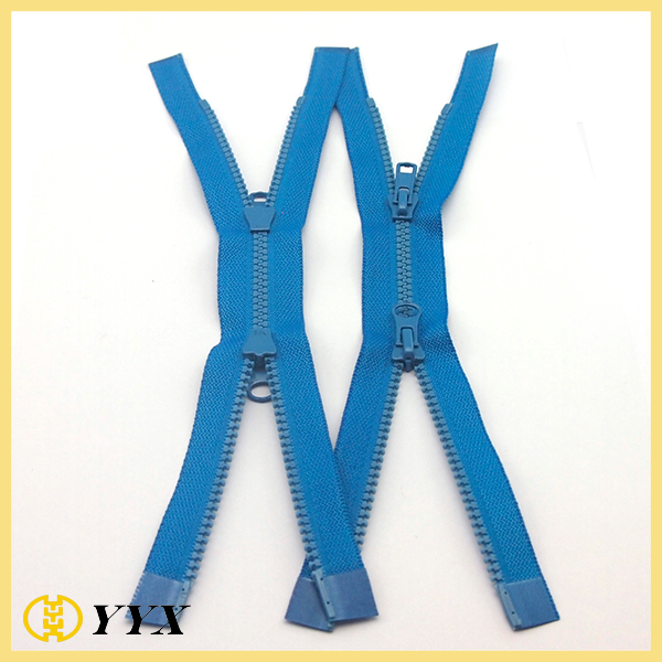 plastic zipper double side sliders