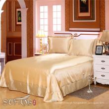 Conjuntos de cama de design do hotel / luxo áfrica do sul de seda tencel toque bege cama