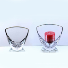Clear Glass Triangle Candle Holder (10GC03108)