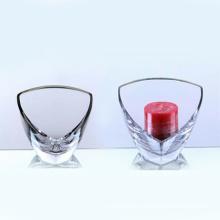 Прозрачный стеклянный подсвечник с треугольником (10GC03108)