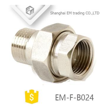 EM-F-B024 Nickel plated thread Brass Union Russia Pipe fitting