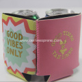Light Pink With Gold printing Neoprene Can Cooler