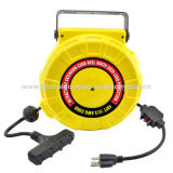 Retractable cable reel, spring-loaded auto rewind for quick recoil with mounting bracketsNew