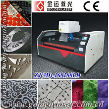 Synthetic PVC PU Leather Laser Engraving and Cutting Machine with Galvo Head (ZJ(3D)-160100LD)