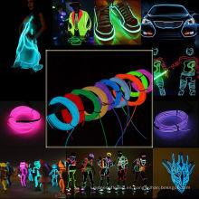 Nicely Neon Glow Flexible EL tubo de la tira de alambre de luz de la cuerda de decoración para la fiesta de Navidad