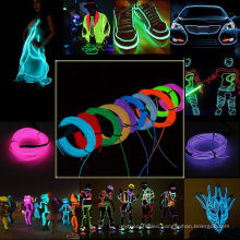 Nicely Neon Glow Flexible EL Strip Tube Wire Light Rope Decoration for Christmas Party
