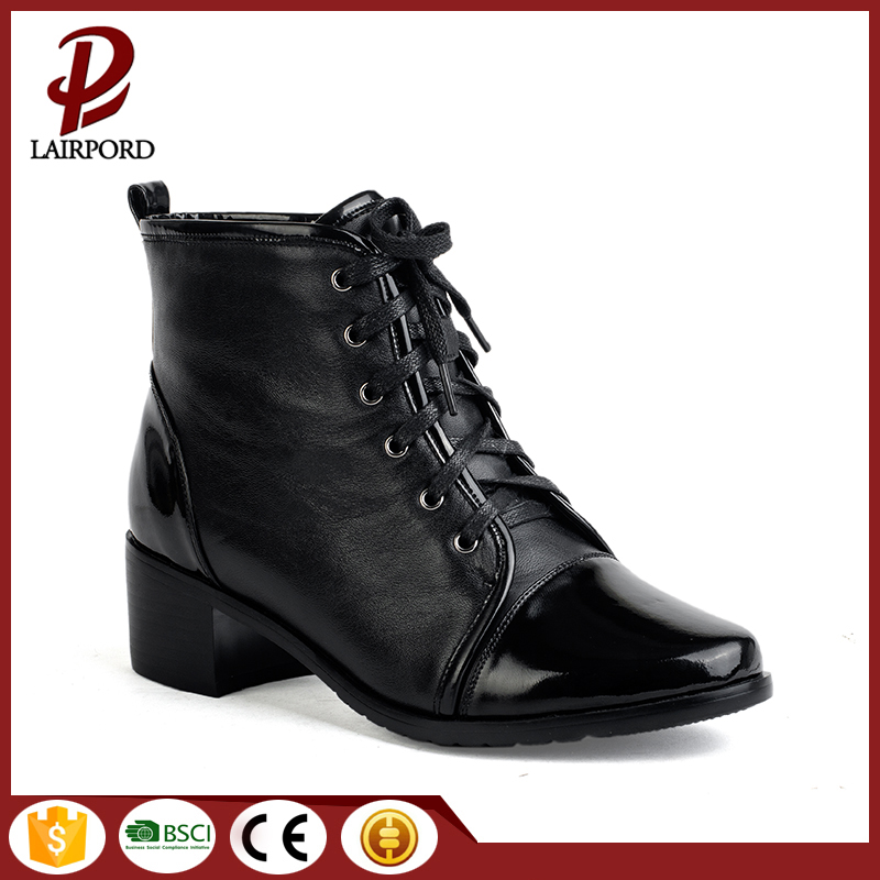 4cm high quality women genuine leather boots