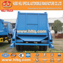 DONGFENG 8cbm 170hp 4x2 arm swing trash truck skip garbage truck/dust cart good quality low price