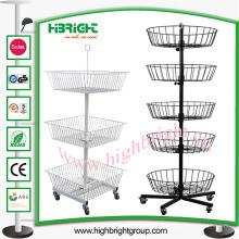 Four Sides Rotierenden Spinner Display-Ständer für den Einzelhandel