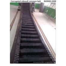 Wk160 Cleated Sidewall High Incline Conveyor Belt