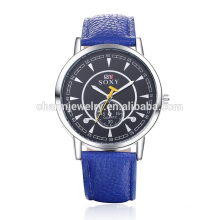 Luxury Simple Fashion Quartz Big Strap Leather Wrist Watch SOXY011