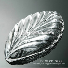 2015 wholesale customize Leaf Shape crystal fruit plate for home decoration & wedding gifts