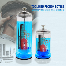 2019 Amazon Hot Sale Barbicide Disinfecting Jar Perfect for Salons & Barbers Sanitizing Manicure Glass Jar