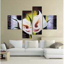 Pinturas al óleo pintadas a mano decorativas de la flor