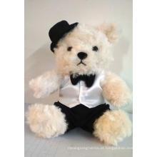 Brinquedo de pelúcia cavalheiro urso de pelúcia