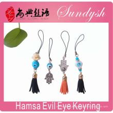 La mejor llavero Tassel Hamsa Evil Eye Keychain accesorio clave llaveros