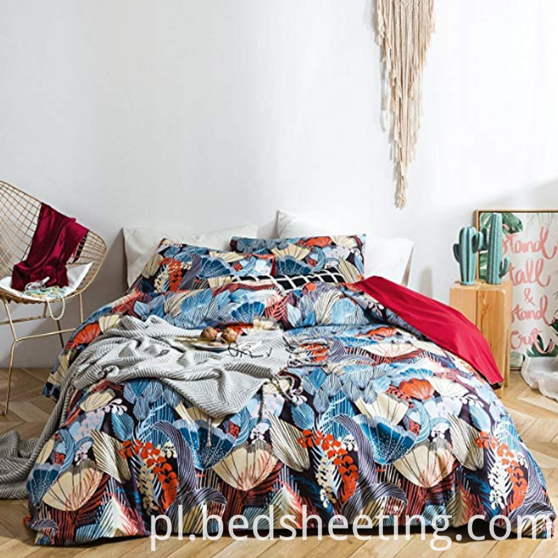Organic Cotton Sateen Printed Duvet Cover
