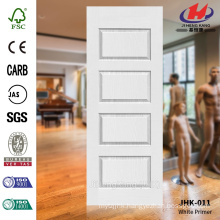 JHK-011 4MM Moulded MDF White Primer Door Skin Widly Used Beautiful Glass Interior Door                                                                         Quality Assured