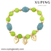 Arbeiten Sie bunte Perlen 18k Gold-Plated nachgemachten Schmuck Armreif-51491 um