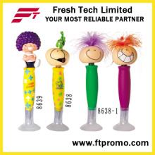 Plástico de moda caneta promocional com logotipo
