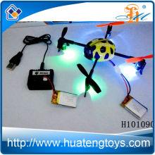 El mejor juguete del quadcopter del rc de la venta, 2.4g quadchter del rc 4ch interfiere el ufo con el juguete H101090 de las luces