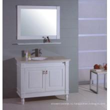 Белый Деревянный Шкаф Ванной Комнаты (Б-311)