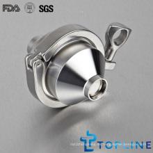 Válvula de control de soldadura sanitaria de acero inoxidable