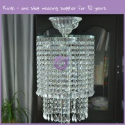 k5990 Hot sale wedding cheap tall crystal or glass candle glass holders
