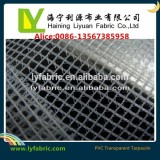 Greenhouse knitting fabric clear mesh PVC tarpaulin