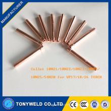 10N21 pinza de antorcha 10N22 tig para piezas de antorcha de soldadura wp17 / 18/26 partes