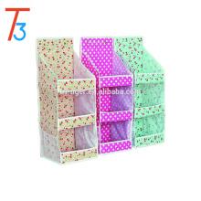 3 tier non woven hanging storage organizer /bathroom/door/wall hanging bag